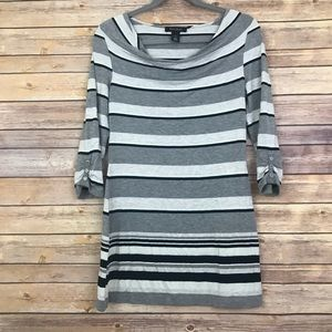 WHBM Cowl Neck Striped Tunic Size XS